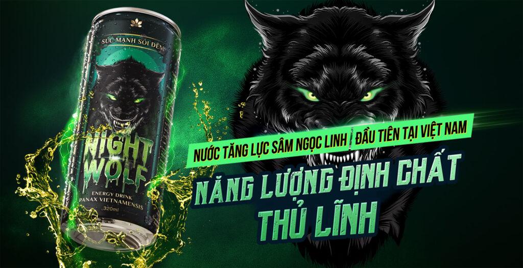 Nước tăng lực Night Wolf - Dòng sản phẩm mới từ Sâm Ngọc Linh Kon Tum K5