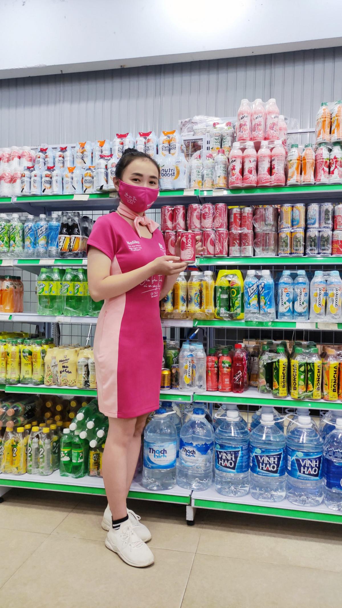 Sản phẩm mới của Sâm Ngọc Linh Kon Tum K5 đang được bày bán tại các quầy nước uống tại siêu thị trên toàn quốc.
